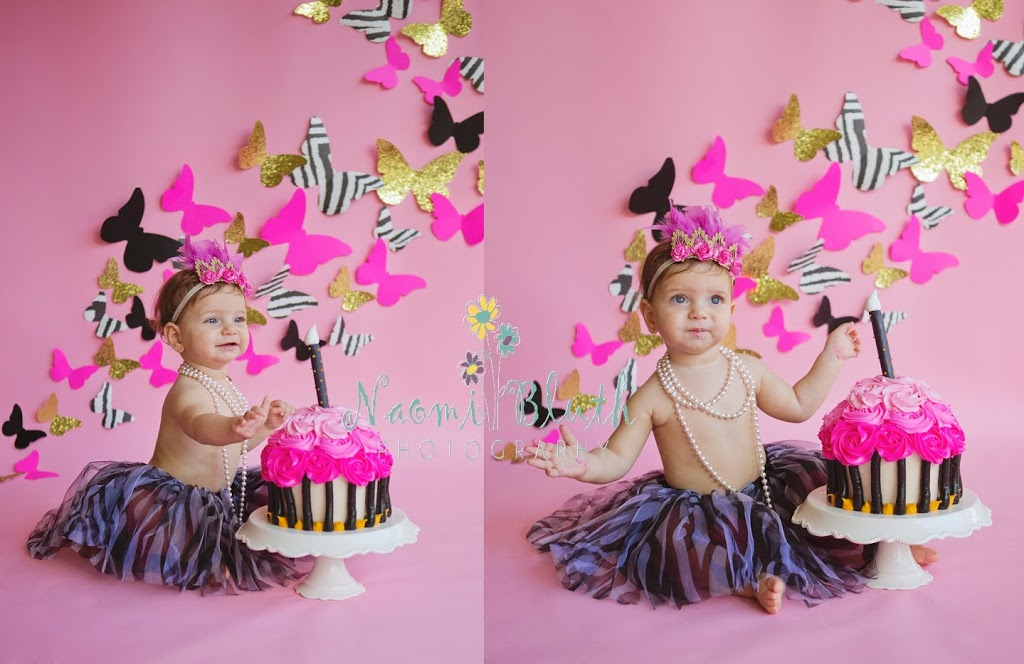 South Florida first birthday portraits Cake smash Palm beach baby