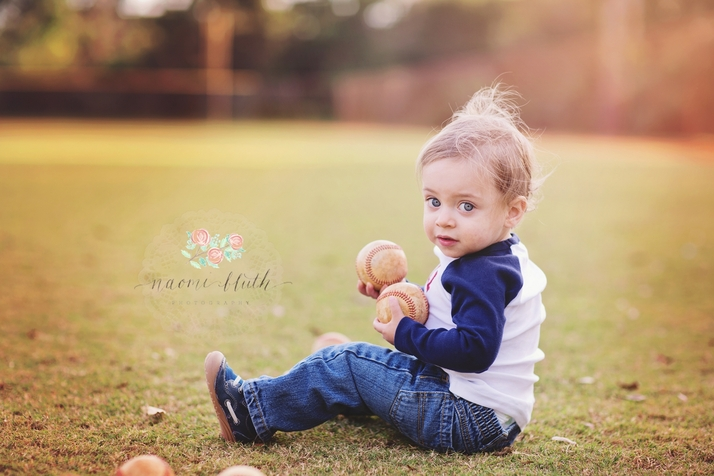 baby portraits Palm Beach baseball vintage