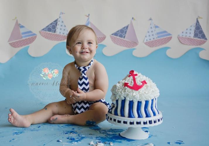 Parkland birthday portraits cake smash