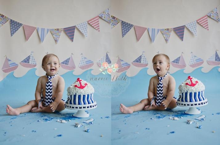 Boca Raton birthday portraits cake smash