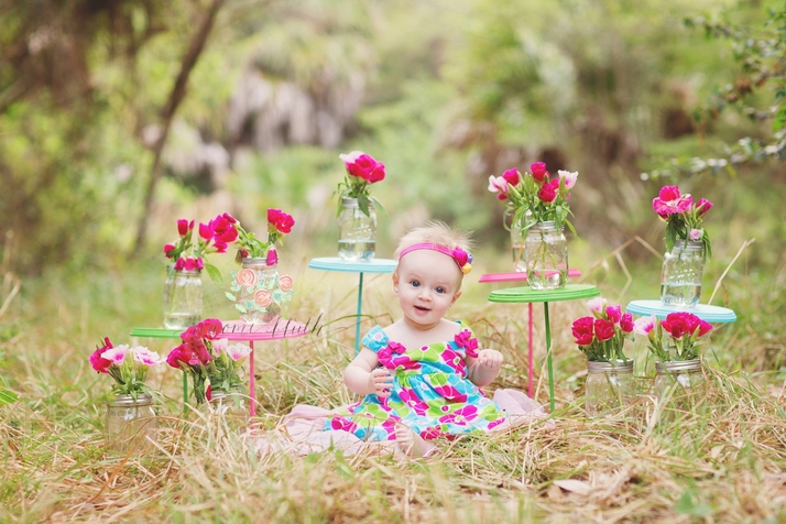 South Florida baby photographer flowers