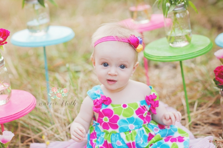 Delray beach baby photography flowers field