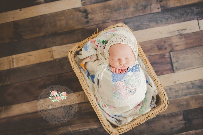 vintage quilt baby portraits