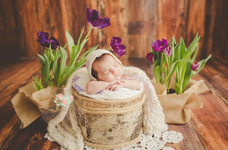newborn portraits South Florida tulips