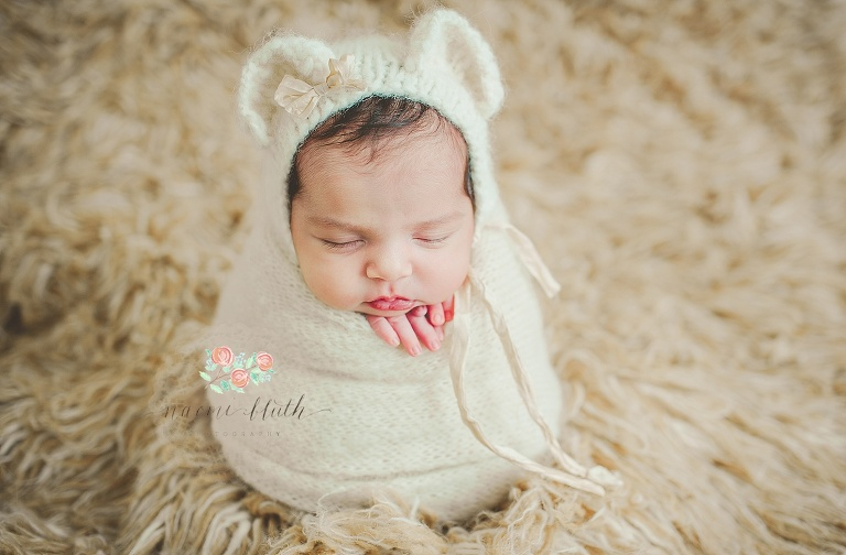 baby bear newborn photos Boca Raton