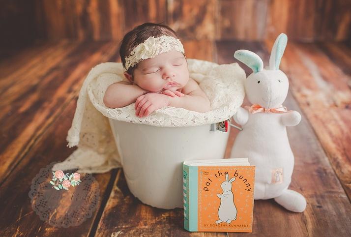 Pat the Bunny newborn photographer