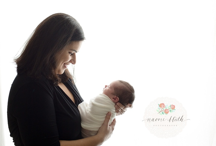 mommy and baby newborn photographer