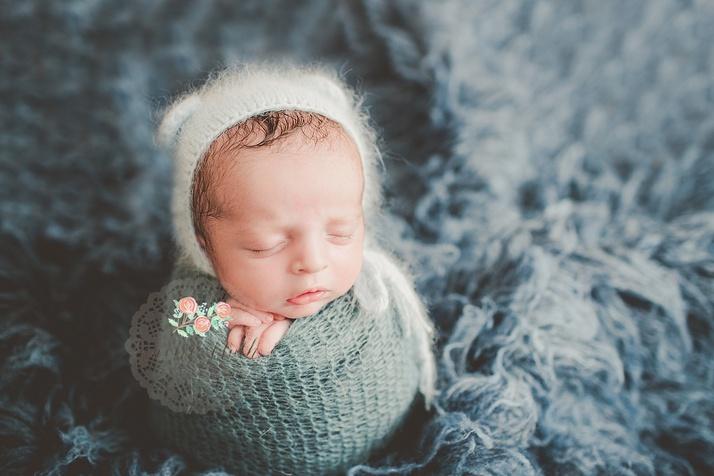 newborn baby photography Boca Raton potato sack