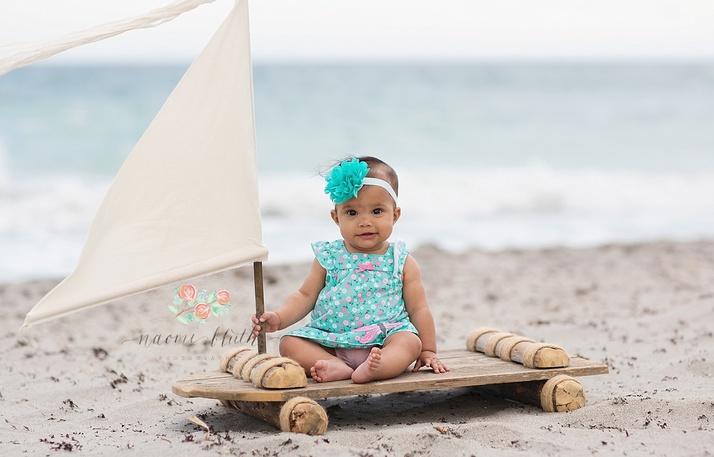 beach baby photographer portraits Delray