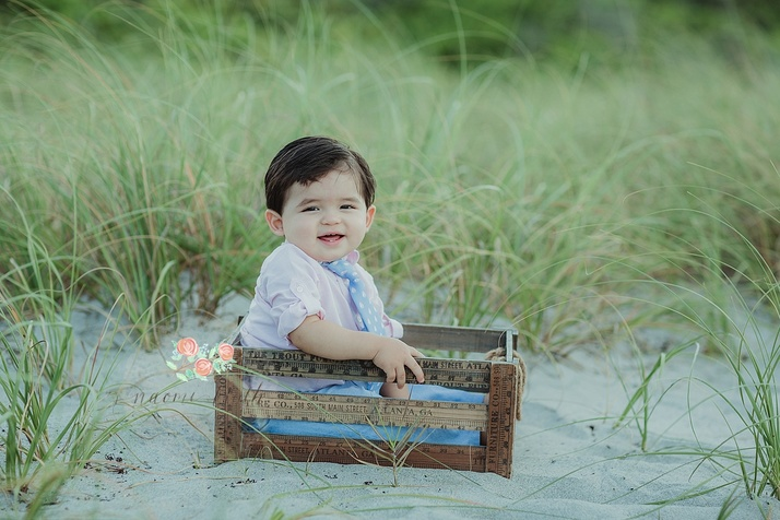 Boca Raton beach baby photos
