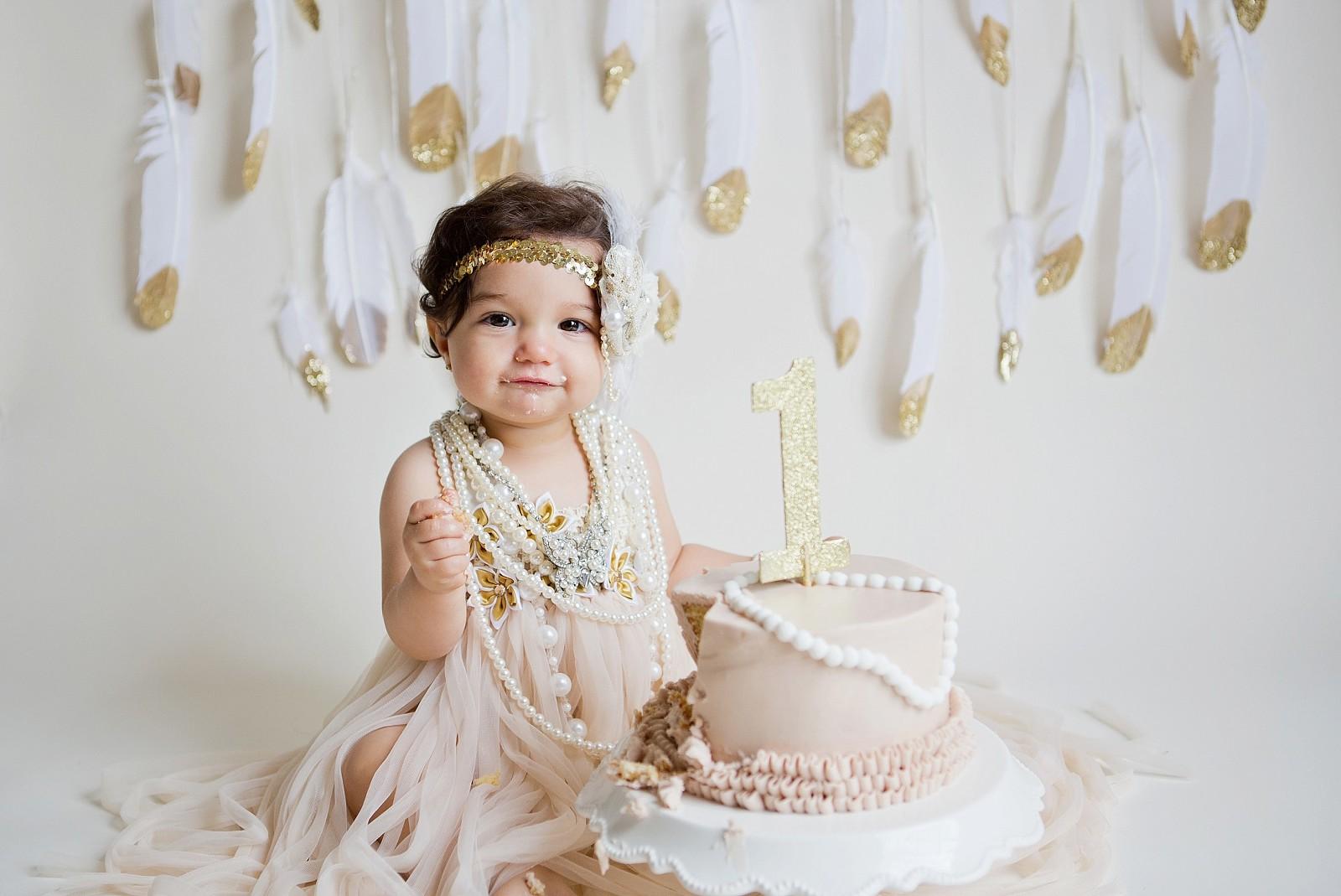 Boca Raton cake smash baby photographer