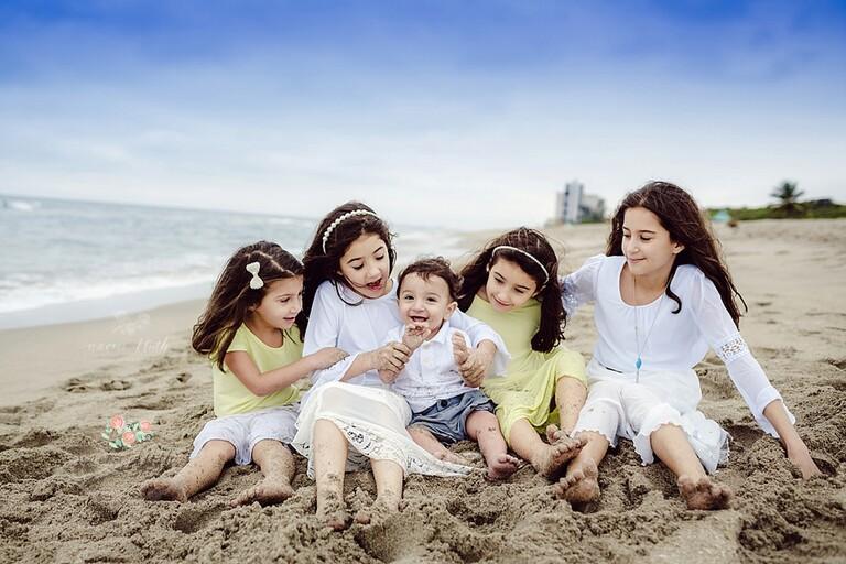 Beach family photo shoot in Boca Raton